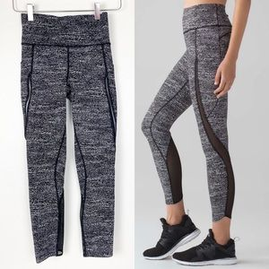 Lululemon Pace Perfect 7/8 Tight Mesh Running